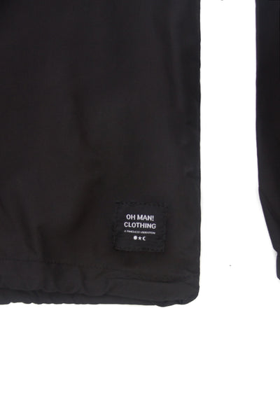 Self Care Windbreaker Set in Black