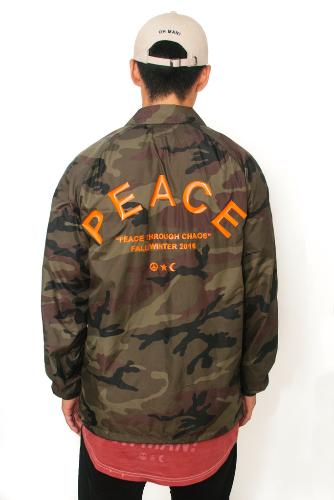Outerwear - Peace Through Chaos Jacket in Camo - Oh Man! Clothing