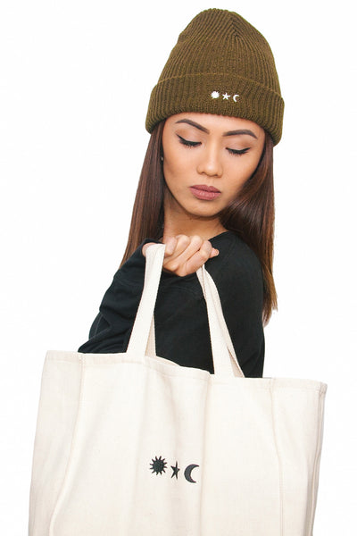 Accessories - Everyday Knit Beanie in Military Olive - Oh Man! Clothing