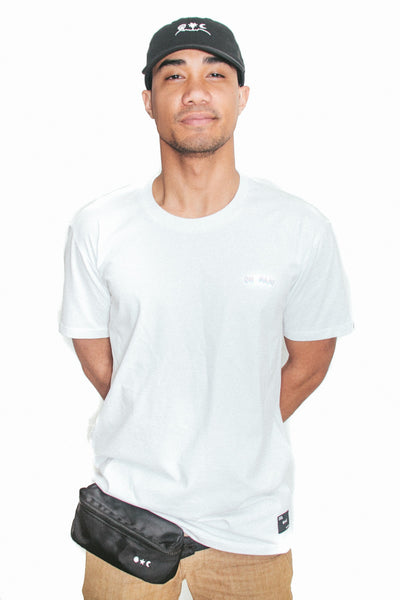 Shirts - Double Vision T-Shirt in White - Oh Man! Clothing