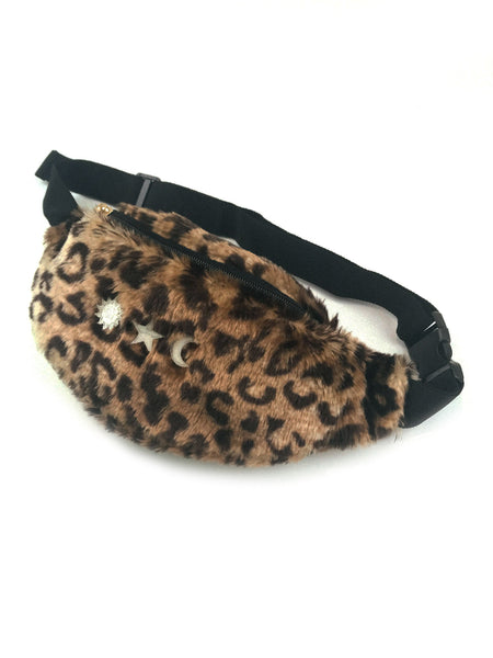 Faux Fur Bum Bag in Cheetah