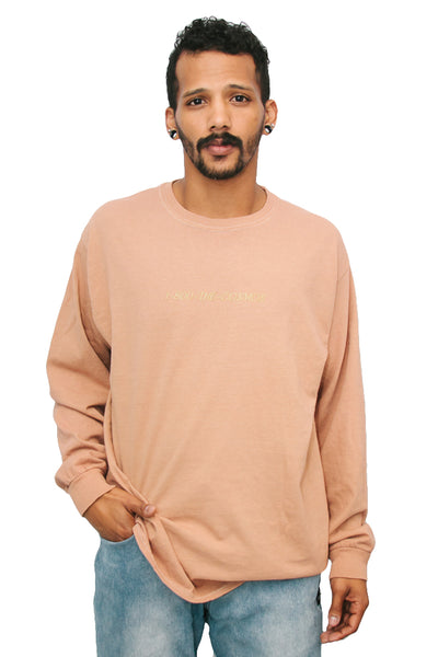 ☎️ 1-800-THE-COSMOS ☎️ Long Sleeve Knit in Dirty Nude