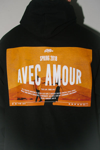 Avec Amour Champion Hoodie in Black