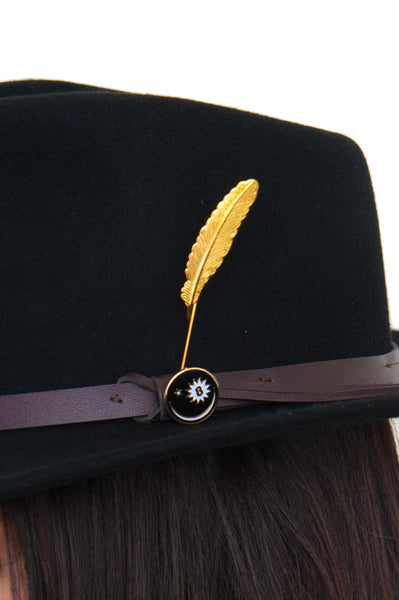 ✨🕵🏻‍♂️ Timeless Wool Explorer's Hat 🕵🏻‍♀️✨ in Midnight Black