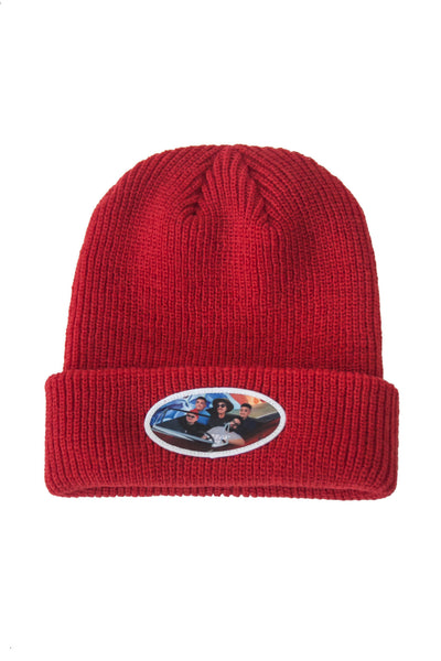 AGNB Cuffed Beanie in Lowrider Red