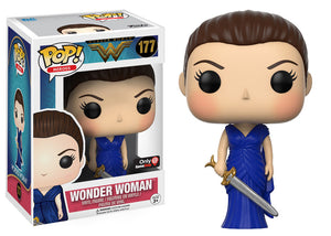 Wonder Woman Blue Dress Pop Vinyl