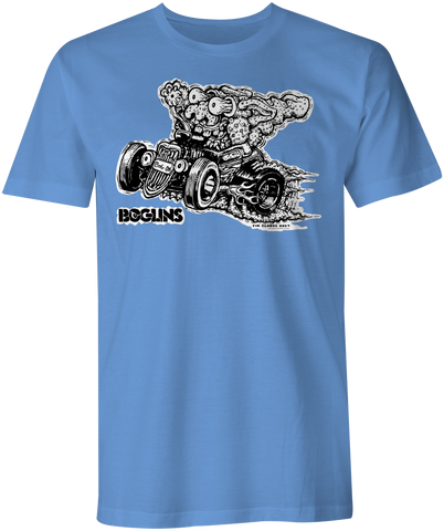 BOGLINS! BURN RUBBER T-shirt!  In Co-operation with Tim Clarke Toys and www.totims.com