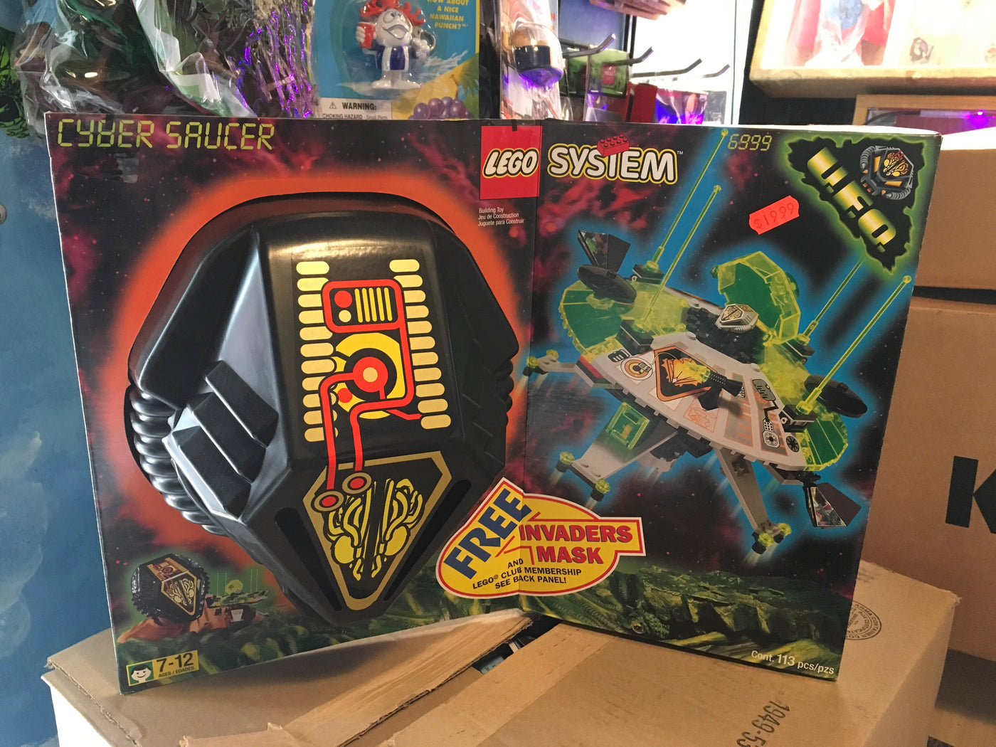 Lego 6999 Cyber Saucer With Mask Mib Vintage