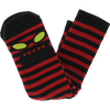 TOY MACHINE : MONSTER FACE MINI STRIPE CREW SOCKS BLK/RED 1 Pair