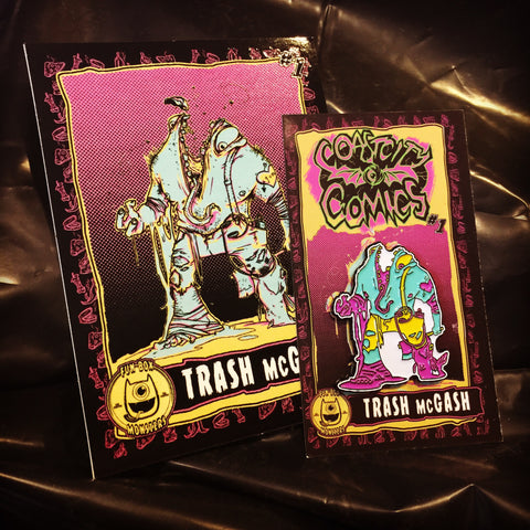 Trash McGash : Fun Box Monster Series #1 Enamel Pin and Sticker!