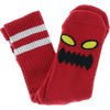TOY MACHINE : MONSTER FACE CREW SOCKS RED 1 Pair