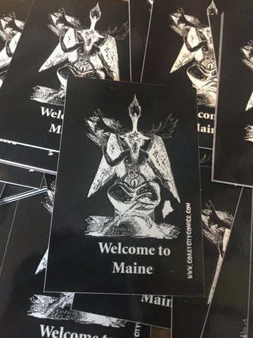 "Welcome To Maine: Baphomoose Sticker 2"" by 3"""