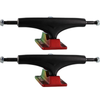 "Gullwing Trucks 9"" Shadow Black / Rasta Skateboard Trucks - 6.25"" Hanger 9.0"" Axle (Set of 2)"