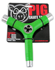 Pig Tri-Socket Threader Skate Tool - Green