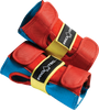 PROTEC STREET WRIST GUARDS : RETRO (RED/BLUE/YELLOW)