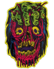 GLORP GORY GHOUL STICKER: FIST FACE (Brad McGinty / GLORP GUM)
