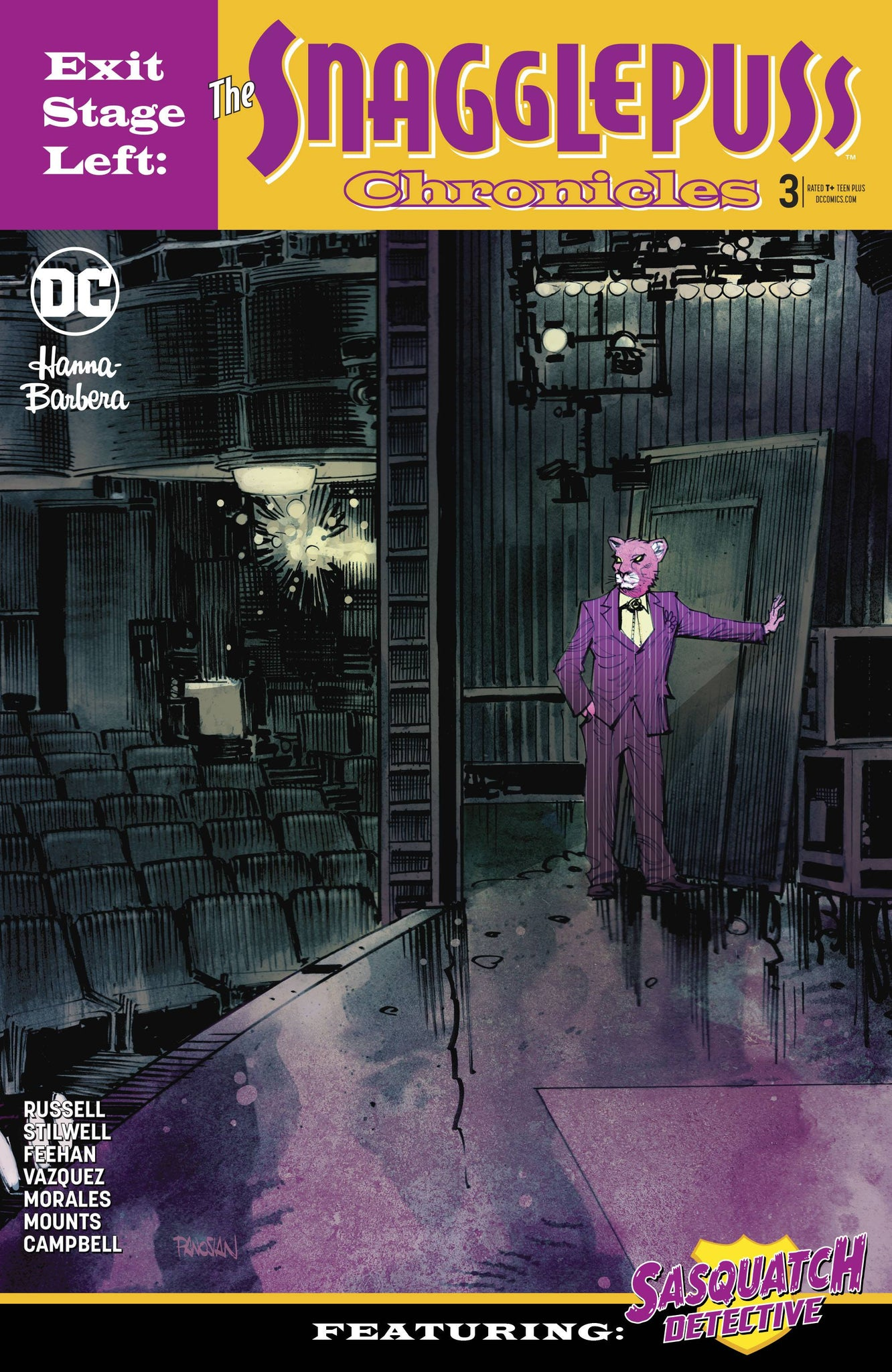 Snagglepuss : Exit Stage Left #3 Cover B