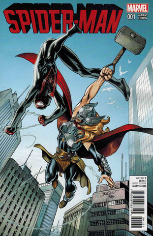 Spider-Man #1 (2016 Miles Morales Series) Mighty Thor 1:25 Variant