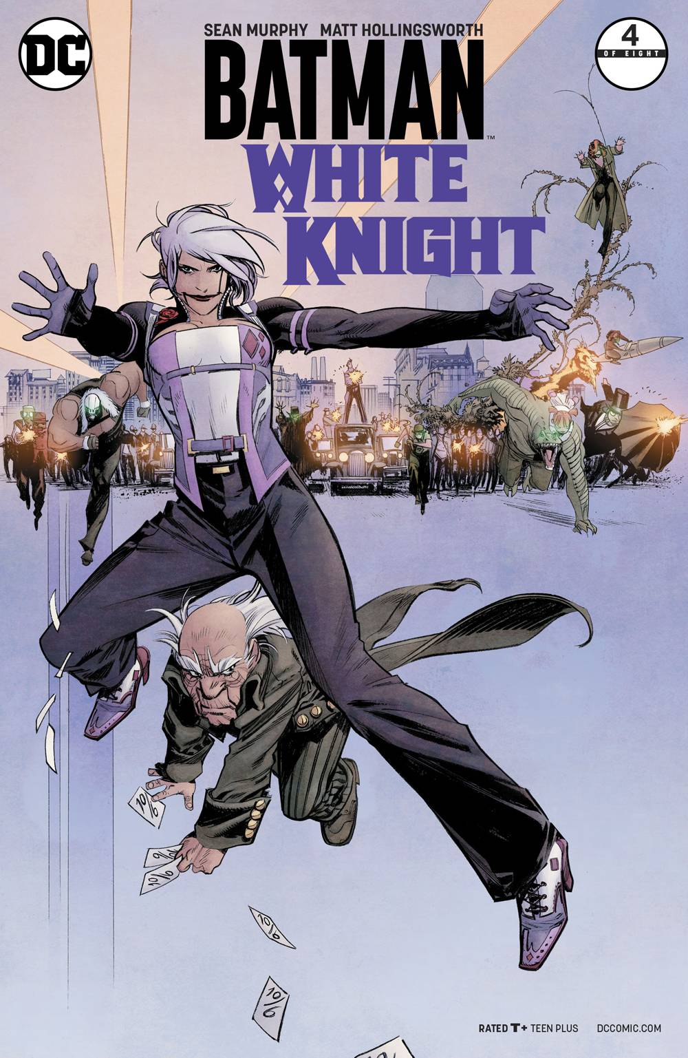Batman White Knight #4 Cover B (Neo Joker / Mad Hatter Cover) Signed by SGM