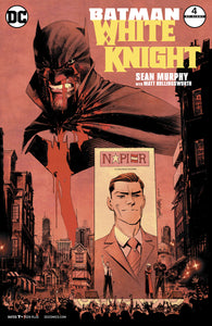 Batman White Knight #4 Cover A (Bloody Batman Cover) Signed by SGM