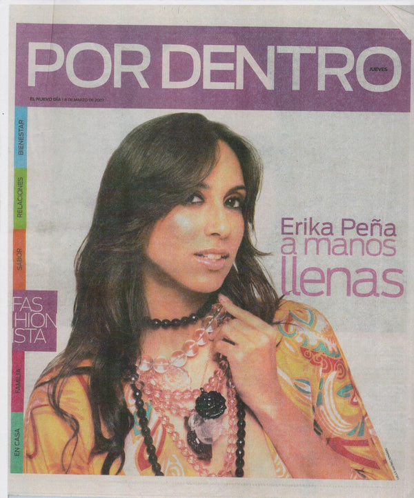 Por Dentro March 2007 Newspaper - Erika Peña