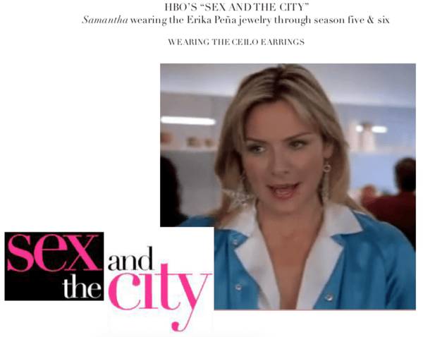 "HBO's ""Sex and the City"" Samantha Jones (Kim Cattrall) July 2002 - Erika Peña"