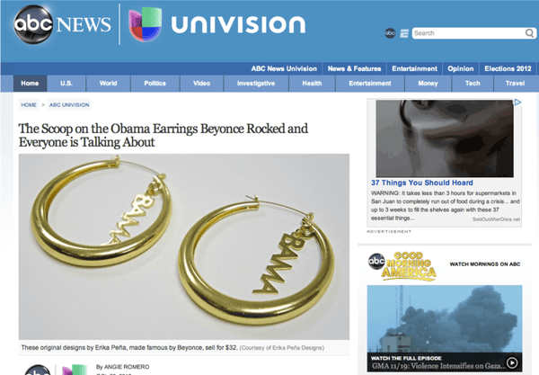 Univision ABC News October 2012 Blog - Erika Peña