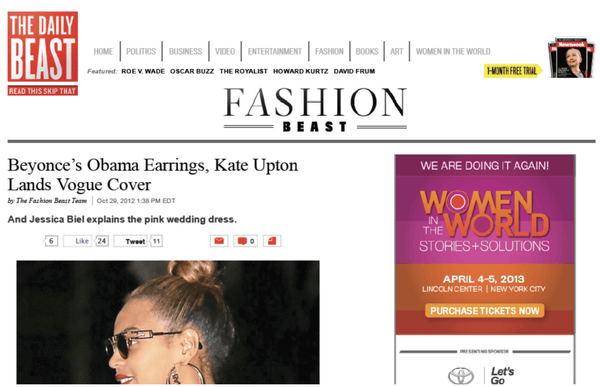 The Daily Beast | The Fashion Beast October 2012 Blog - Erika Peña