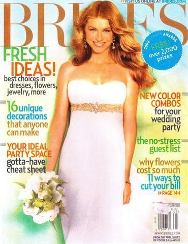 Brides June 2008 Magazine - Erika Peña