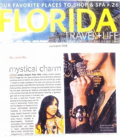 Florida Travel + Life July- August 2008 Magazine - Erika Peña