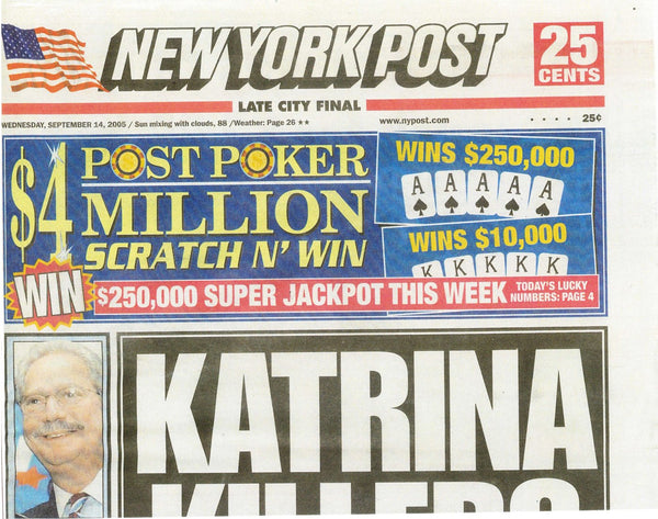 New York Post Newspaper September 2005 - Erika Peña