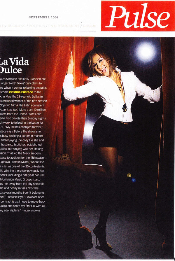 Pulse September 2008 Magazine - Erika Peña