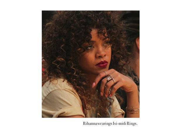 Rihanna spotted wearing our Isi-midi Rings! - Erika Peña