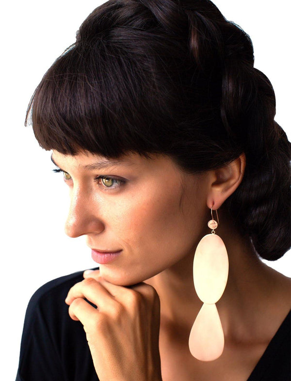 Candelara Earrings - Brushed