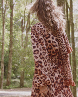 SAHARA RIMBA ANIMAL WRAP DRESS