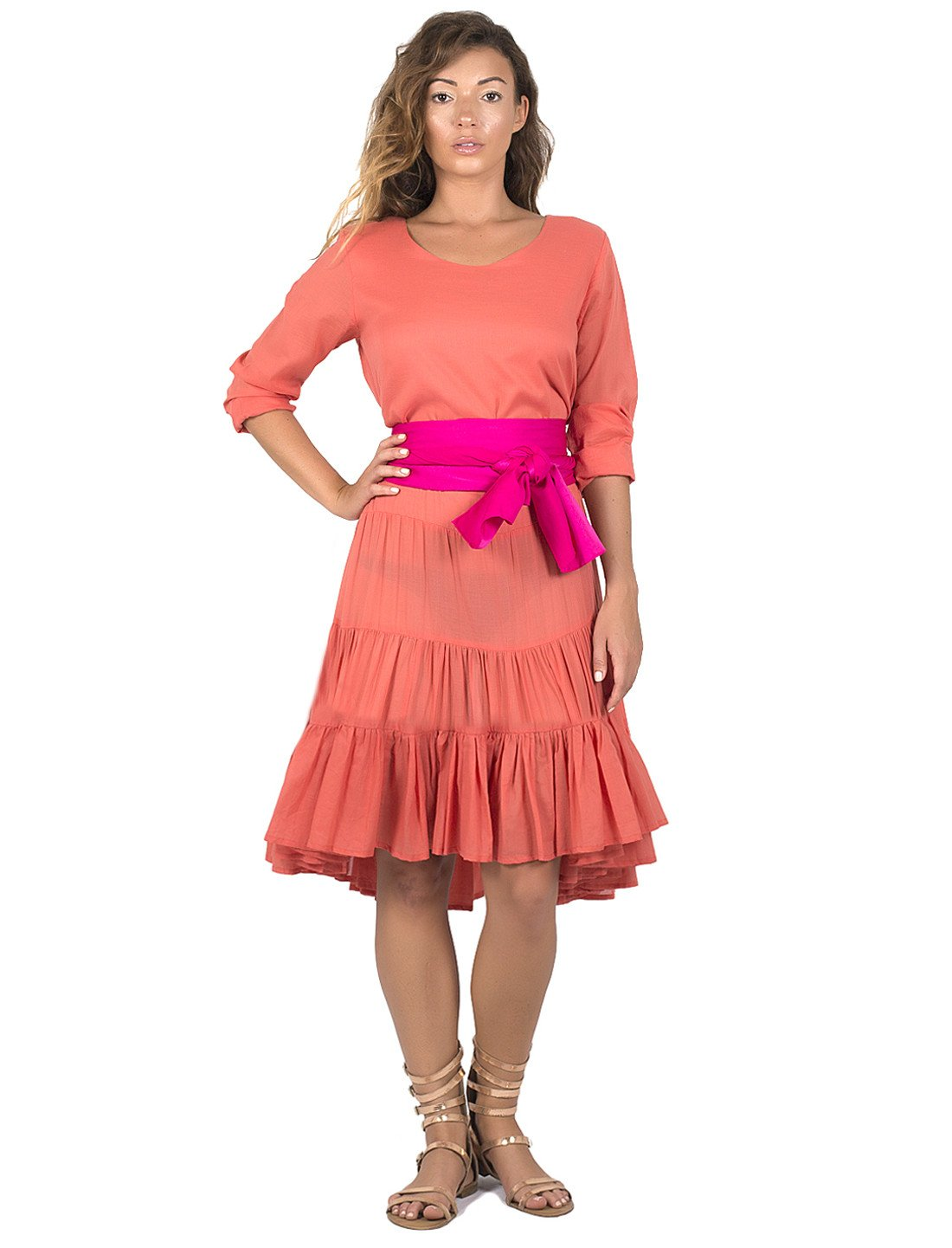 Rumba Long Sleeve Short Cocktail Length Dress