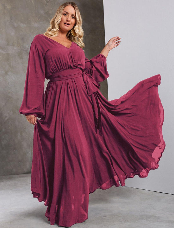 SAHARA CURVY RIMBA WRAP DRESS - Erika Peña