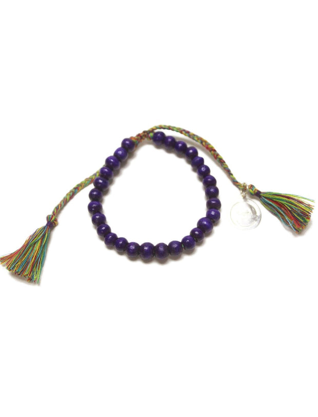 Single Wood Bead Bracelet - Pack of 4 - Erika Peña