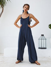 VERUSCHKA ISLA JUMPSUIT + ISLA TASSEL BELT + FREE ANA TASSEL EARRINGS - Erika Peña