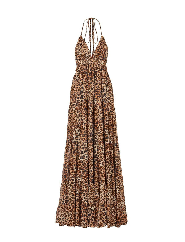 LOLA RIMBA ANIMAL HALTER DRESS - Erika Peña