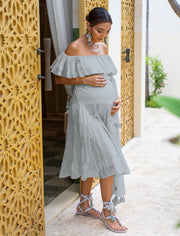 RITA RUMBA MATERNITY MIDI DRESS + RUMBA TASSEL BELT - Erika Peña