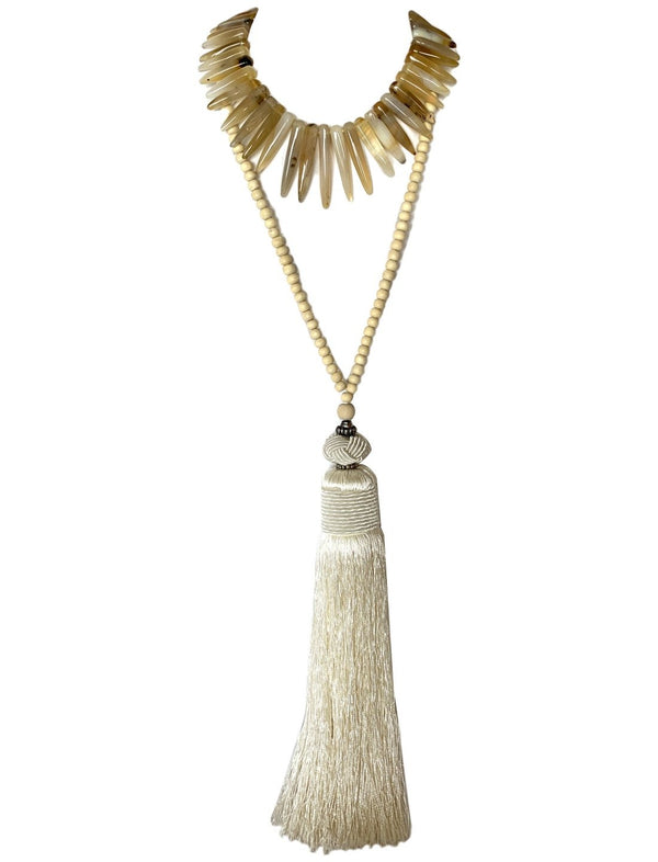 Paku Necklace with Alysia Tassel Necklace - Erika Peña