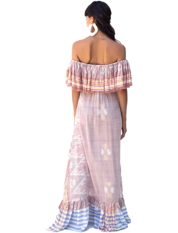 RITA IKAT MAXI DRESS - Erika Peña