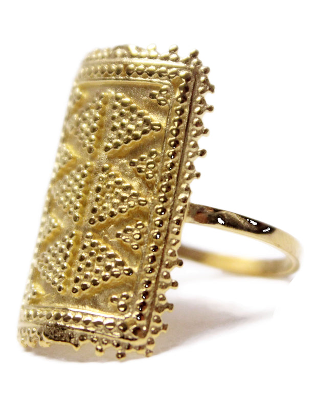 Sanscript Rectangular Ring - Erika Peña