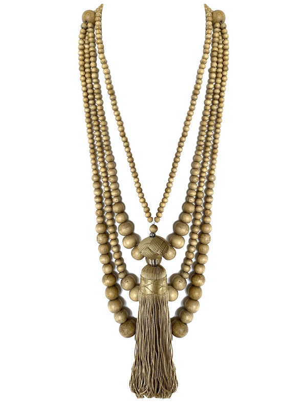 Sans Long Necklace with Ali Tassel Necklace - Erika Peña