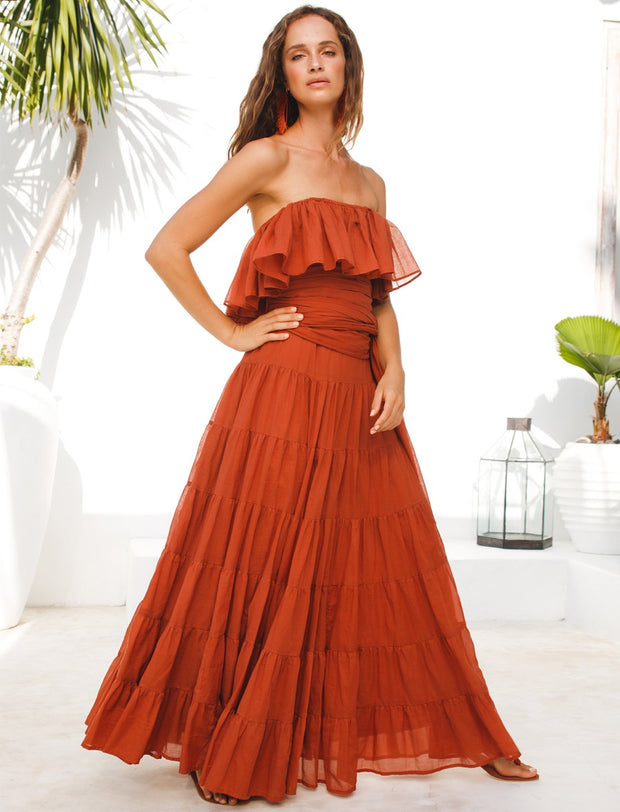 RITA RUMBA MAXI DRESS + LOMBOK BELT + FREE SOLEIL EARRING - Erika Peña