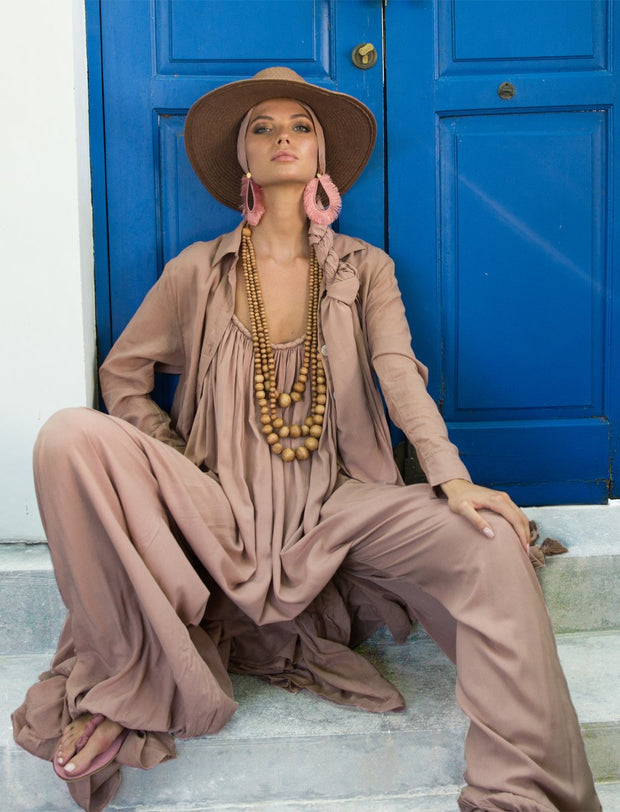 VERUSCHKA ISLA JUMPSUIT SET 6-PIECES LOOK BUNDLE WITH FREE SILVIA EARRINGS - Erika Peña