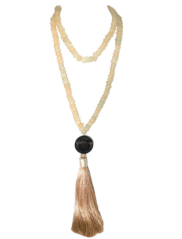 KAEO KARAIHE SEA GLASS WITH TASSEL NECKLACE - WRAP - Erika Peña