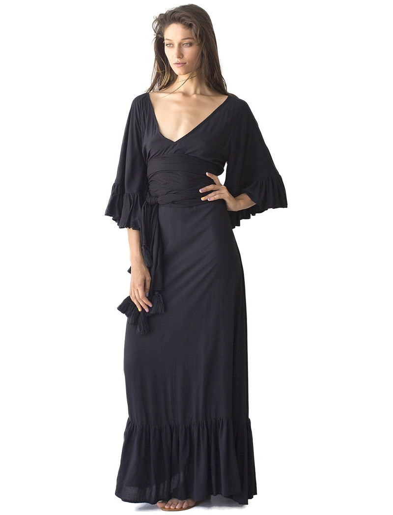 Rayon Margarita Long Dress - Erika Peña
