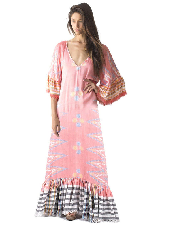 MARGARITA IKAT LONG DRESS - Erika Peña